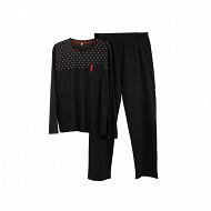 Pyjama homme NOIR/ RAYURES ROUGE XXL