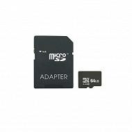 Carte micro SD 64Go, CLASS10 + adaptateur SD