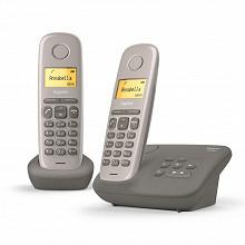 Gigaset Téléphone sans fil avec répondeur AL170 A DUO UMBRA