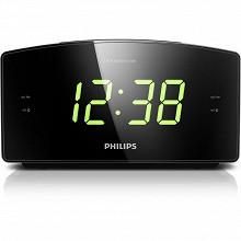Philips Radio réveil large écran double alarme tuner FM/MW AJ3400/12