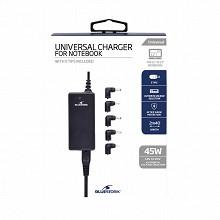 Bluestork Chargeur universel pour pc portable 45 w - 5 embouts inclus BS-PW-NB-40