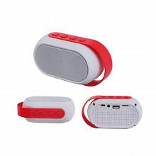 Haut-parleur compatible Bluetooth coloris rouge