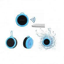 Haut-parleur étanche compatible Bluetooth coloris bleu