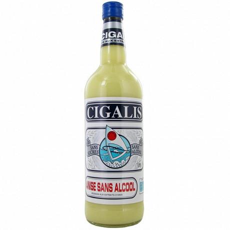 Cigalis pastis anise sans alcool 1l