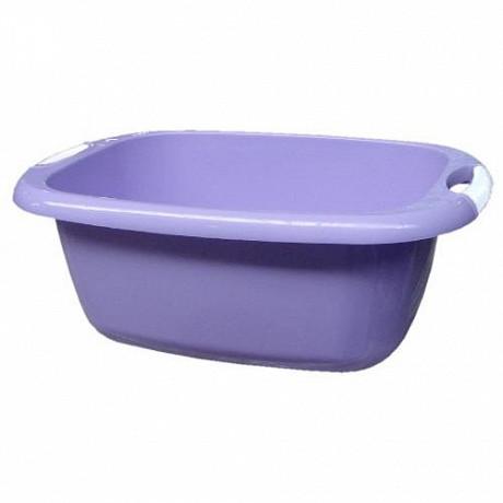 Bassine rectangle 22 litres parme avec poignées soft touch