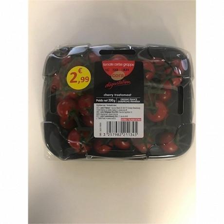 Cora dégustation tomate cerise grappe barquette 200g