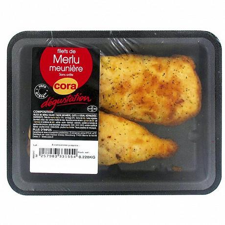 Cora dégustation filet de merlu meunière sans arêtes 220g
