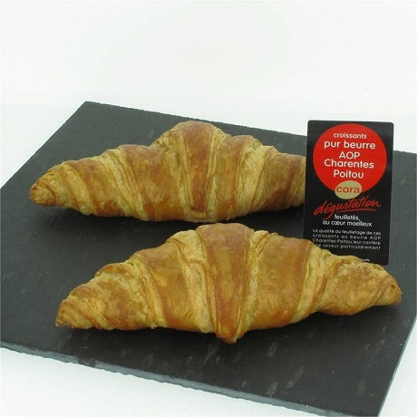 Croissant Cora dégustation x2