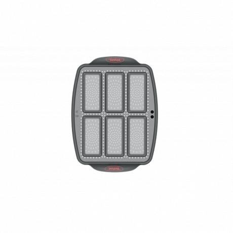 CRISPYBAKE Moule 6 mini cakes silicone 29X21cm