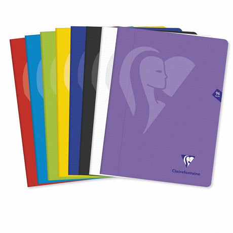 Clairefontaine cahier piqûre petit carreaux 240x320 96pages