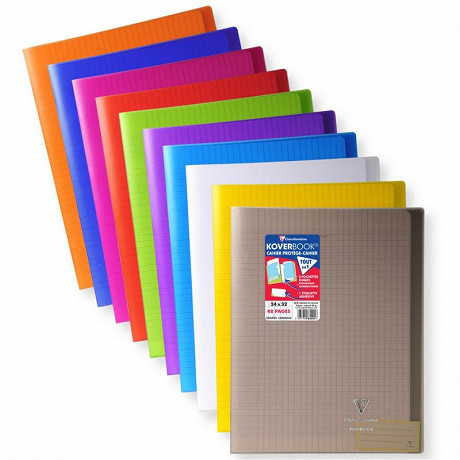 Clairefontaine - cahier piqure kover book 240*320 48p seyes couv polypro