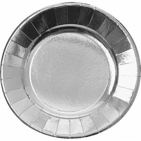 Cora assiettes x6 argent ronde 29cm