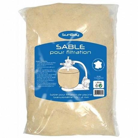 Sable de filtration pour piscine 25kg