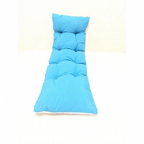 Coussin bain de soleil flock 190x60x8 cm coloris bleu uni n°23