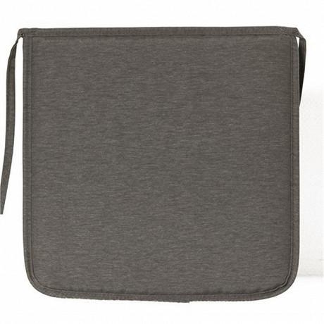 Anjosa galette carrée 38x38 epaisseur 3 cm gris dm