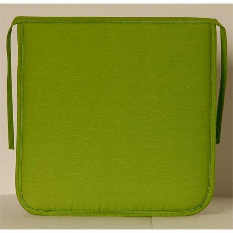 Anjosa galette carrée 38x38 epaisseur 3 cm vert anis dm