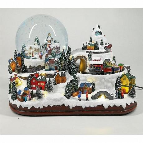 """Village de noel """"neige"""" led animé et musical"""