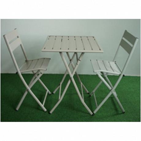 Table pliante 70x70x71cm pieds métalliques + surfaces table en alu