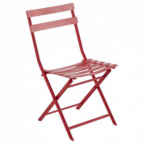 Chaise en acier coloris groseille greensboro