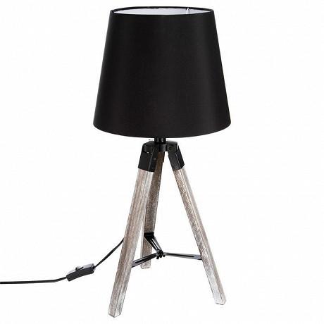 Lampe trepied noir H56