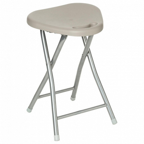 Tabouret pliant taupe