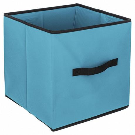 Boite de rangement pliable turquoise