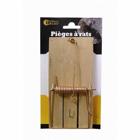 Carte 1 piege à rat  socle bois