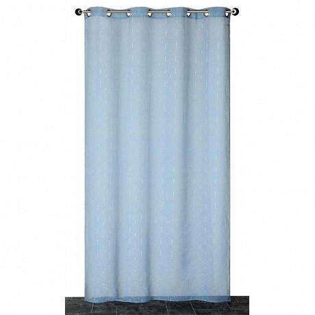 Panneau étamine fils coupés 140x240 cms gris bleu