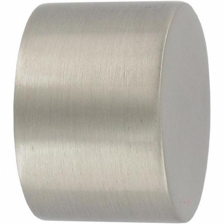 Embout x2 bouchon chrome mat diamètre 20mm