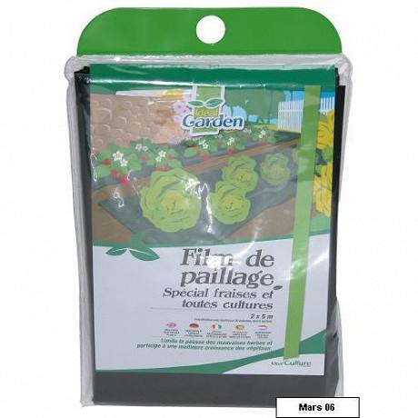 Ideal garden film paillage fraises 2x5m en sachet
