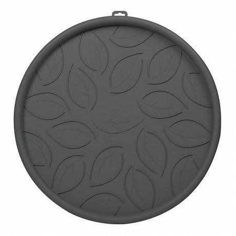 Soucoupe à roulettes 45 cm - gris anthracite