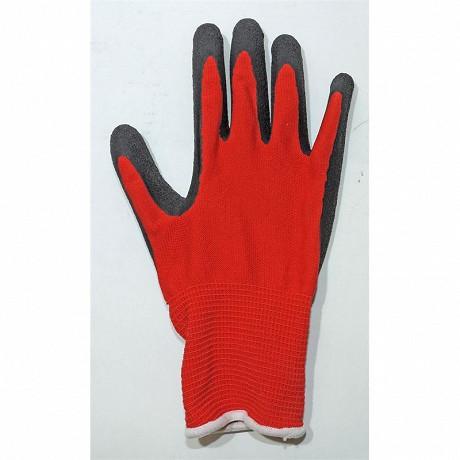 Gants rempotage nylon enduction latex taille 10 noir et rouge