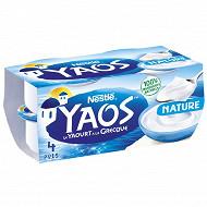Nestle Yaos Yaourt brassé nature 4x150 g