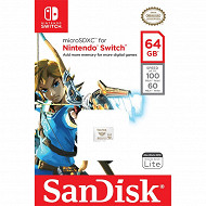 SanDisk Carte micro sd xc nintendo switch 64 gb SDSQXAT-064G-GNCZN