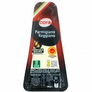 Cora pointe parmigiano reggiano AOP portions 180 g 28.4%mg au lait cru affin 22 mois