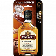 Courcel cognac flask 20cl 40%vol