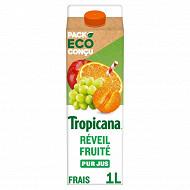 Tropicana réveil fruité pur jus brique 1l