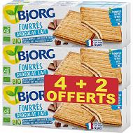Bjorg lot 4 fourrés chocolat lait + 2 oft 1.350g