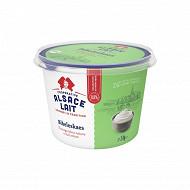 Alsace lait bibeleskaes fromage blanc au lait entier nature 8% 1kg