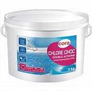 Chlore double actions en seau de 3kg