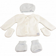 Lot maternité BLANC/BLEU 0/1 mois