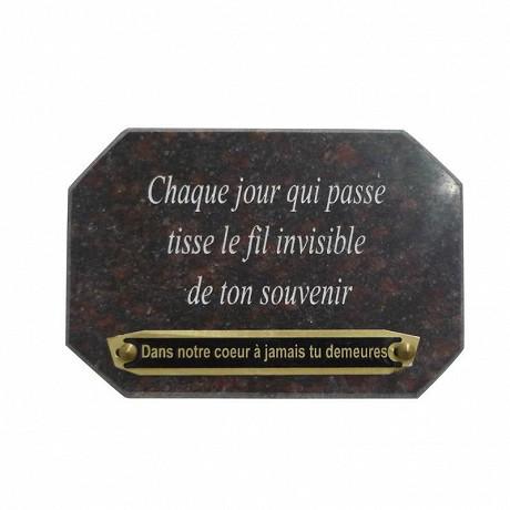 Decoforce  plaque funéraire en granit avec texte 18 x 12 cm