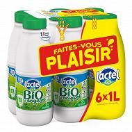 Lactel Lait bio écrémé bouteille 6x1l