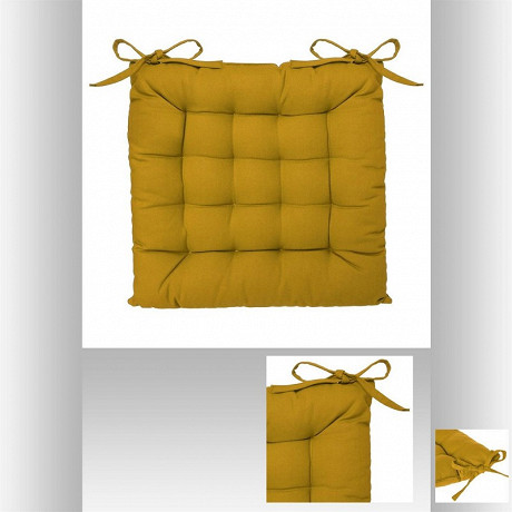 Galette chaise 38x38cm ocre