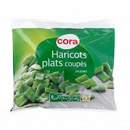 Cora haricots verts plats coupés surgelés 1kg