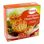 Cora 4 mini gratins choux-fleurs 480g