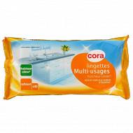 Cora lingettes nettoyantes multi-usages citron recharges x40
