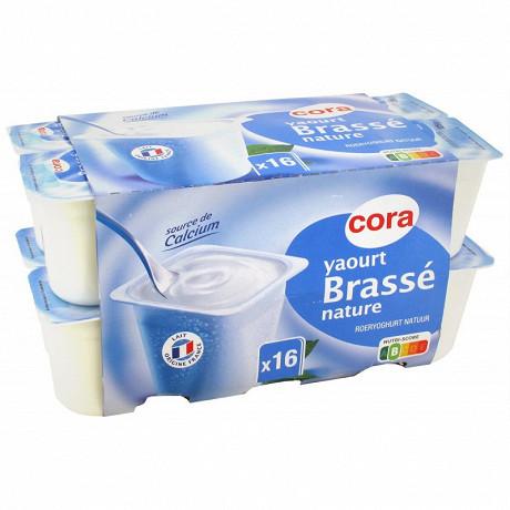 Cora yaourt brassé nature 6 % mg 16 x 125g