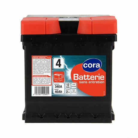 Cora batterie de démarrage 40AH 340A N°4