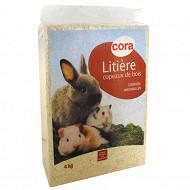 Cora litière copeaux de bois pour rongeurs 4kg